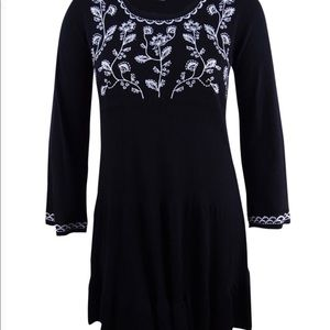 NEW W/Tags Style&Co Plus SZ 2X Embroidered Dress